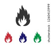 easily flammable package icon... | Shutterstock .eps vector #1260415999