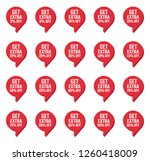 discount labels set  sale tag ... | Shutterstock .eps vector #1260418009