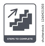 steps to complete icon vector... | Shutterstock .eps vector #1260421303