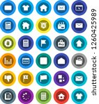 white solid icon set ...   Shutterstock .eps vector #1260425989
