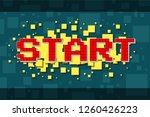 red pixel retro start... | Shutterstock .eps vector #1260426223