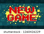 red pixel retro new game... | Shutterstock .eps vector #1260426229