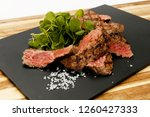 succulent and juicy rare beef...   Shutterstock . vector #1260427333