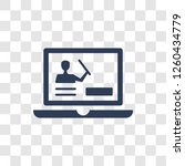 computer based training icon.... | Shutterstock .eps vector #1260434779