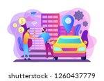 businessman with smartphone...   Shutterstock .eps vector #1260437779
