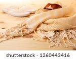 handwoven hammam turkish cotton ...   Shutterstock . vector #1260443416