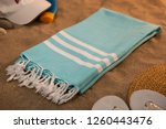 handwoven hammam turkish cotton ... | Shutterstock . vector #1260443476
