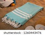 handwoven hammam turkish cotton ...   Shutterstock . vector #1260443476