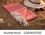 handwoven hammam turkish cotton ... | Shutterstock . vector #1260443530