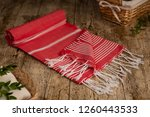 handwoven hammam turkish cotton ... | Shutterstock . vector #1260443533
