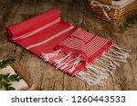 handwoven hammam turkish cotton ... | Shutterstock . vector #1260443533