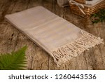 handwoven hammam turkish cotton ... | Shutterstock . vector #1260443536