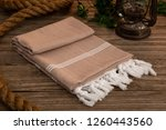 handwoven hammam turkish cotton ... | Shutterstock . vector #1260443560