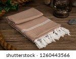 handwoven hammam turkish cotton ... | Shutterstock . vector #1260443566
