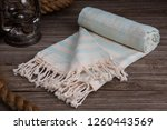 handwoven hammam turkish cotton ... | Shutterstock . vector #1260443569