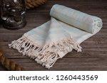 handwoven hammam turkish cotton ... | Shutterstock . vector #1260443569