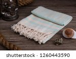 handwoven hammam turkish cotton ... | Shutterstock . vector #1260443590