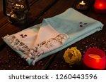 handwoven hammam turkish cotton ... | Shutterstock . vector #1260443596