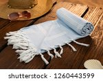 handwoven hammam turkish cotton ... | Shutterstock . vector #1260443599
