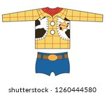 technical drawing with sheriff... | Shutterstock .eps vector #1260444580