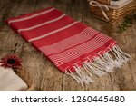 handwoven hammam turkish cotton ... | Shutterstock . vector #1260445480