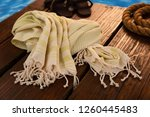 handwoven hammam turkish cotton ...   Shutterstock . vector #1260445483
