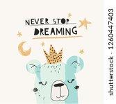 childish nursery creative print ... | Shutterstock .eps vector #1260447403