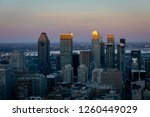montreal at sunset with the sun ... | Shutterstock . vector #1260449029