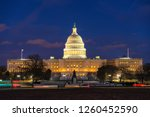 us capitol in washington dc at... | Shutterstock . vector #1260452590