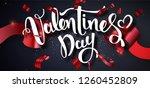 valentines day design vector... | Shutterstock .eps vector #1260452809