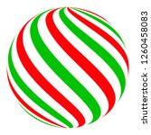 christmas ball candy sphere for ... | Shutterstock .eps vector #1260458083