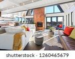 modern beach house with custom... | Shutterstock . vector #1260465679
