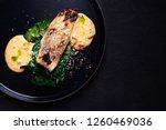 grill pub and fish restaurant...   Shutterstock . vector #1260469036