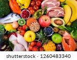 background healthy food. fresh... | Shutterstock . vector #1260483340