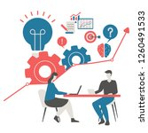 business project and teamwork... | Shutterstock .eps vector #1260491533