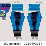leggings pants for gym | Shutterstock .eps vector #1260493369