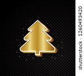 golden christmas tree design... | Shutterstock .eps vector #1260493420