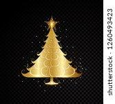 golden christmas tree design... | Shutterstock .eps vector #1260493423
