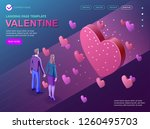 valentines day isometric... | Shutterstock .eps vector #1260495703