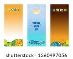 set of vertical banners ... | Shutterstock .eps vector #1260497056