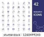 research icons set. collection... | Shutterstock .eps vector #1260499243