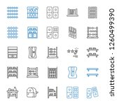 row icons set. collection of... | Shutterstock .eps vector #1260499390