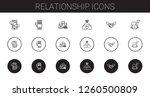 relationship icons set....   Shutterstock .eps vector #1260500809