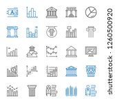 column icons set. collection of ... | Shutterstock .eps vector #1260500920