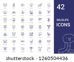 wildlife icons set. collection... | Shutterstock .eps vector #1260504436