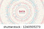 big data visualization. complex ... | Shutterstock .eps vector #1260505273