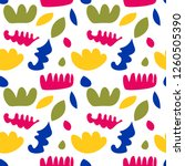 abstract seamless pattern with... | Shutterstock .eps vector #1260505390