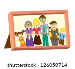vintage frame with family photo | Shutterstock .eps vector #126050714