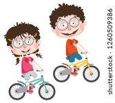 vector illustration of children | Shutterstock .eps vector #1260509386