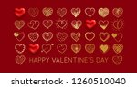 valentines day background with... | Shutterstock .eps vector #1260510040